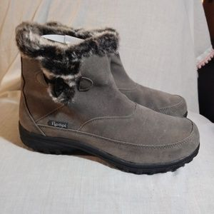 Floopi Gray Faux Suede All Weather Boots